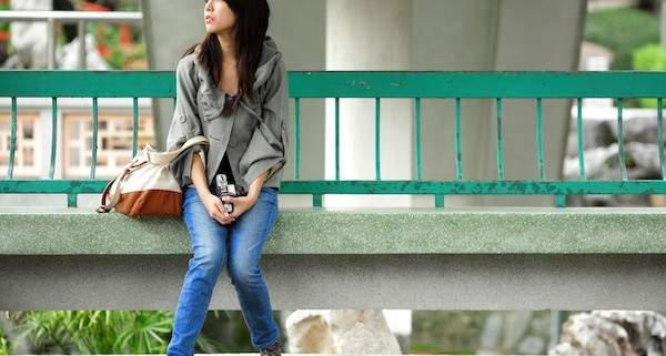 depressed fashion girl